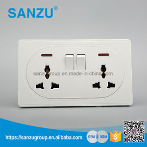 BS Style Wall Switch Double 13A Universal Wall Socket pictures & photos