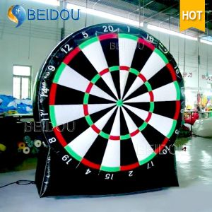 China Inflatable Dart Board Game Inflatable Soccer Foot Darts For