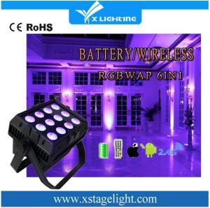 High Quality Mini LED PAR WiFi Battery 12PCS Wireless Light pictures & photos