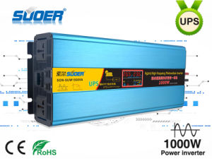 Suoer New High Frequency Hybrid Photovoltaic Inverter UPS Inverter 24V 1000W with MPPT Solar Controller (SON-SUW1500VA)