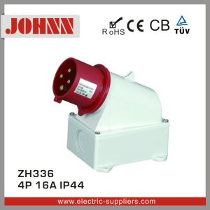 IP44 4p 16A Surface Mounted Industrial Plug pictures & photos