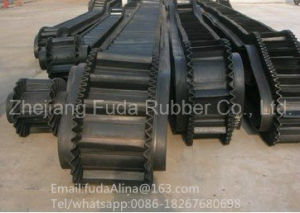 Corrugated Sidewall V Rubber Conveyor Belt (ISO Certified) pictures & photos
