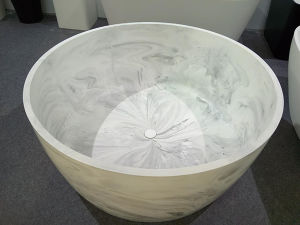 Marble-Like Freestanding Bathtub Modern Style pictures & photos