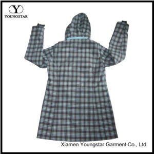 Ys-1073 Womens Girls Green Printed Waterproof Breathable Hooded Softshell Jackets pictures & photos