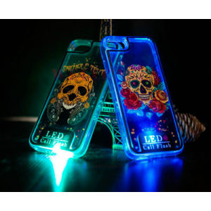 Skeleton Series Quick Sand LED Call Flash Mobile Phone Case