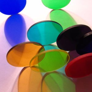 High Transmission Custom Circular or Square Colored Optical Glass