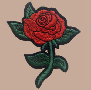 Pakistani Applique Designs Iron on Rose Appliques pictures & photos