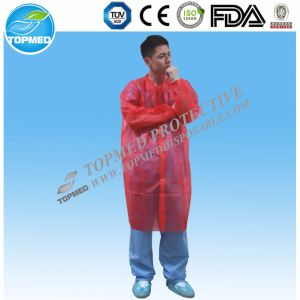 Disposable Doctor Lab Coat or Nonwoven Scrub Gown pictures & photos