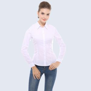 Snow White Blouse Las Tailored Shirt Business Suits For Women Office Wear