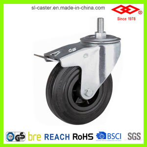 Black Rubber Industrial Caster Wheel (P101-31D075X25S) pictures & photos