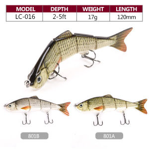 in Stock 17g 120mm Top Water Hard Multi Jointed Fishing Lure pictures & photos