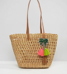 Small Colorful Tassel Decoration Beach Vine Tote Bag (LD-17003) pictures & photos