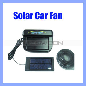 Black Auto Solar Car Solar Fan with Rubber Stripping (FAN-01) pictures & photos