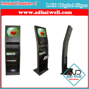 Newspaper Metal Magazine Display Stand with Sumsung LCD Advertising Screen pictures & photos