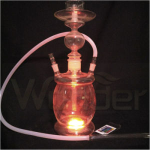 Wholesale All Glass Hookah Shisha, Colored Smoke Hookah with LED
