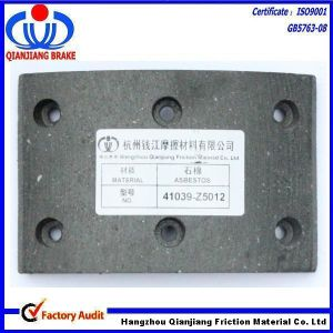 T320-950 Mc821396 (41039-Z5001) Brake Lining for Mitsubishi