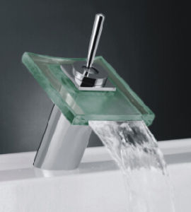 Tempered Glass LED Wasserhahn Basin Mixer