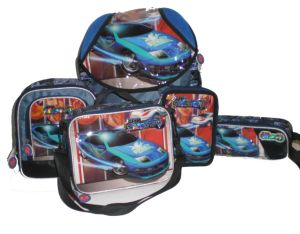 Cartoon Student School Bag 5piece Per Set