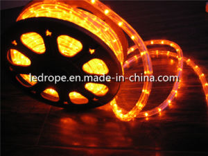 50m 2wires Orange Led Rope Light 12vdc
