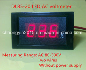 Dl85-20 LED 3 Digit Panel AC Voltage Meter pictures & photos