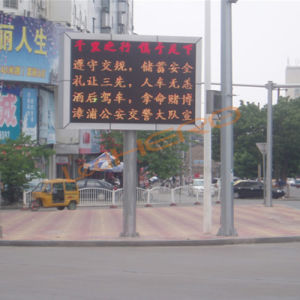 Traffic Guidance Waterproof LED Screen on Road