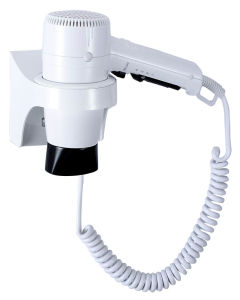 Hotel White Impact Resistant 1600W Wall Mounted Hair Dryer pictures & photos
