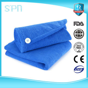 100%Microfiber OEM Plain High Quality Hair Microfiber Cap pictures & photos