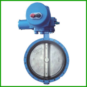 Control Flanged Butterfly Valve with Electric Actuator