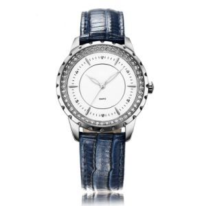 Blue Leather Strap Watch at 3ATM Water Resistance Super Fashion for Women