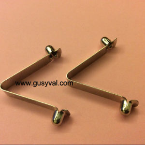 Spring Clip Button for Tube and Pipe/Metal Pipe Clips/V Shape Clip Button/Tent Pole Clip