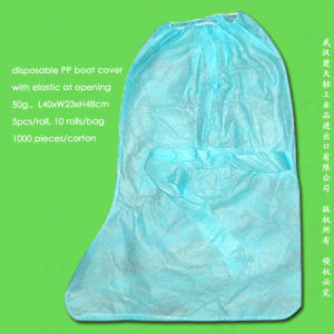 Spun-Bonded Polypropylene Non Woven/PP Disposable Boot Cover pictures & photos
