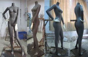 Mannequin Clay Sculpture