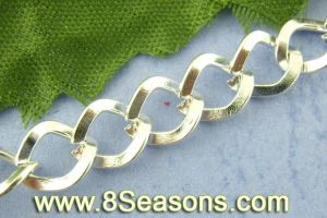 Silver Plated Square Curb Chains Findings 7x8mm (B00972)