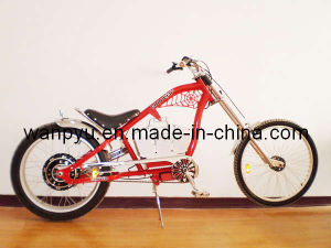 Red Electric Chopper Bicycle
