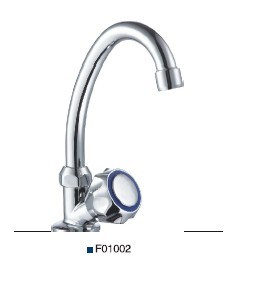 Double Handle Sink Faucet (F01002) pictures & photos