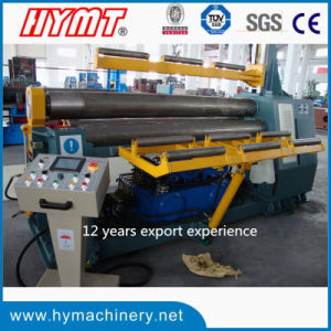 W11H-16X2000 hydraulic 3-roller Automatic plate bending machine pictures & photos