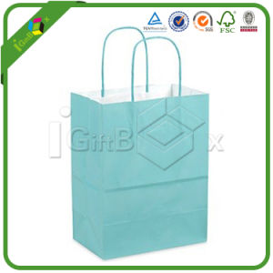 Custom Kraft Paper Bag with Rope Handle for Shopping pictures & photos