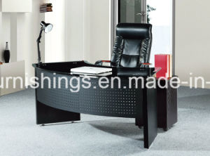Half Round Shape Glass Top Office Table