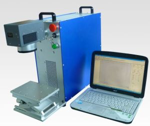 10W 20W 30W Portable Metal Can Fiber Laser Marking Machine pictures & photos