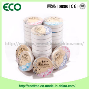 Hot! ! Travel Compressed Facial Napkins/ Magic Coin Tissue/Baby Skincare Wipes Individual Candy Wrapping pictures & photos