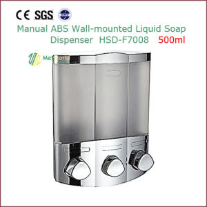 Manual ABS Wall Mounted Liquid Soap Dispenser 500ml pictures & photos