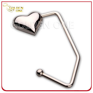 Promotion Gift Hot Sale Heart Nickel Plated Bag Holder pictures & photos