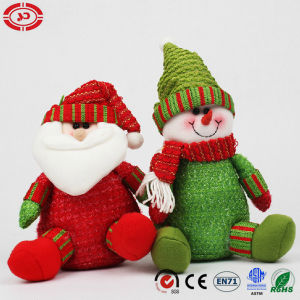Xmas Snowman Holiday Gift with Green Suit Sitting Plush Toy pictures & photos