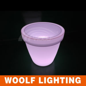Decoration Outdoor LED Lighted Illuminated Flower Pots