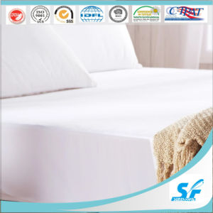 Non-Woven PU Coating Waterproof White Fitted Toddler Mattress Pad Covers pictures & photos