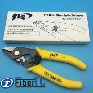 High Precision FIS F11301T Tri-Hole Fiber Optic Stripper 3 Hole Jacket