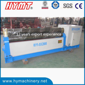 W11-12X2500 Mechanical Type 3 Rollers Carbon Steel Plate Bending Machine pictures & photos