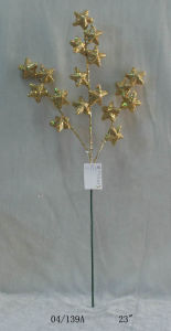 22′′ Golden Glight Plastic Star Cuttings Twig for Christmas Decoration