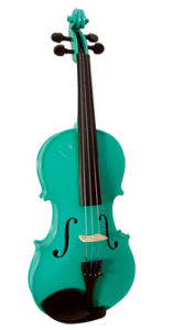 China Rainbow Green Violin For Sale Cheap Violins For Beginners