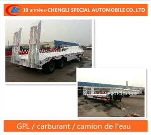 Surbaissee Semi-Remorque 2 Essieux Low Bed Trailer pictures & photos